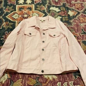 Jackets & Blazers - Light Pink Jean Jacket